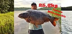 Jubileuszowy karp 25,6kg Jezioro Miłoszewskie