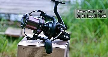 Kołowrotek Dragon Big Pit Carp FD 1370i i plecionka Carp 8X. Film