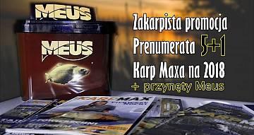 Zakarpista promocja! Prenumerata Karp Maxa, gratis przynęty Meus. Do 15 grudnia.