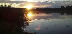 Wschód słońca Jarosławki-cisza przed burzą