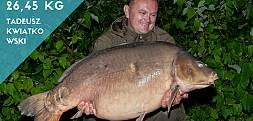 26,45 kg ze zbiornika Dębowa