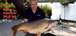 Karp 34,6 kg – ryba numeru Karp Maxa
