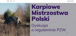 Dyskusja nad regulaminem PZW zawodów w wędkarstwie karpiowym