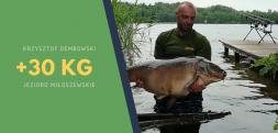 Trzeci karp powyżej 30 kg z Jeziora Miłoszewskiego