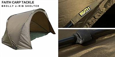 Brolly Faith Carp Tackle 2-Rib Shelter