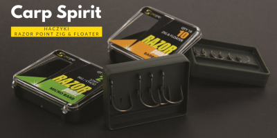 Haczyki Carp Spirit Razor Point Zig & Floater